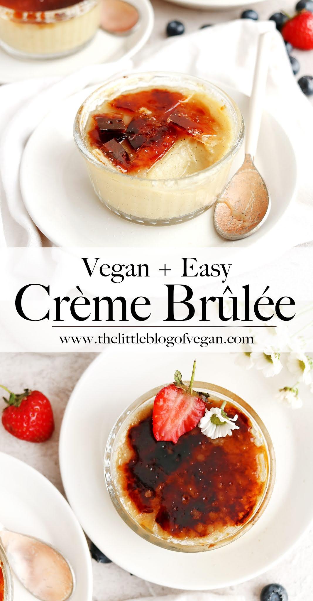 Vegan Creme Brulee on plates
