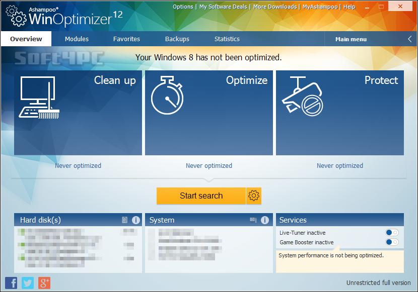 Ashampoo WinOptimizer 12.00.10 + Crack