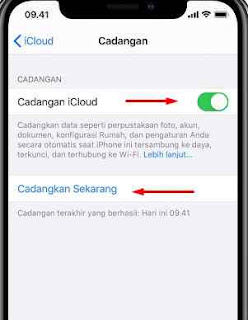 Cara Backup iPhone