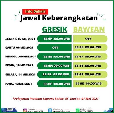 Jadwal Kapal Express Bahari 6F dan 8E Terbaru Mei 2021