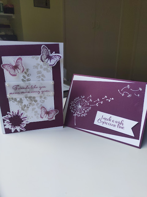 Stampin' Up Blackberry Bliss cards