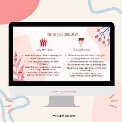 hal-hal yang dibicarakan seputar menstruasi