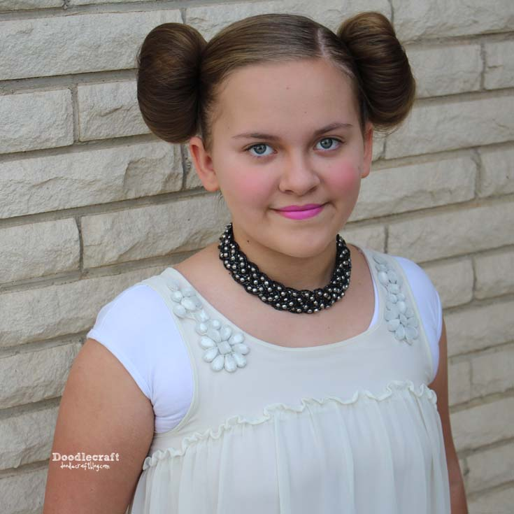 How to style the perfect Princess Leia from Star Wars side buns. Perfect for a simple cosplay or Halloween costume.