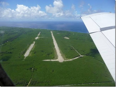 Tinian Island from a plane