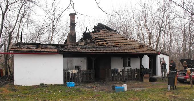 Leégett egy tanyaépület Jászszentandráson