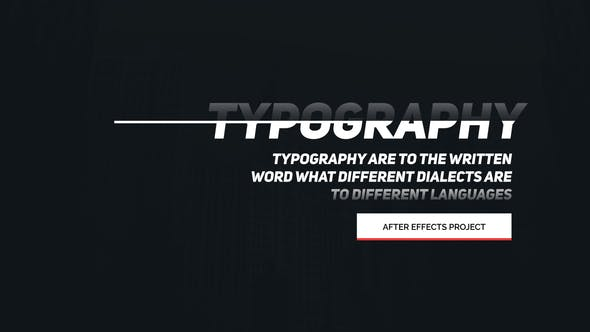 Animated Typography[Videohive][After Effects][22471179]