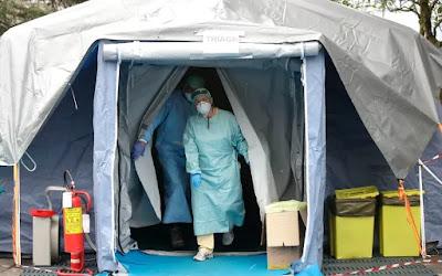 Tenda médica coronavírus COVID-19 na Itália