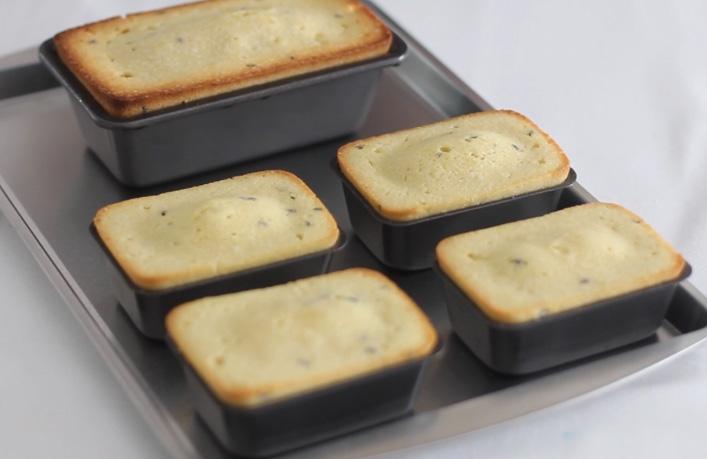 Lemon Lavender Pound Cakes