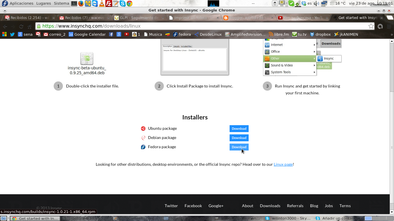 Quieres tener google drive en tu linux, llega Insync en tu