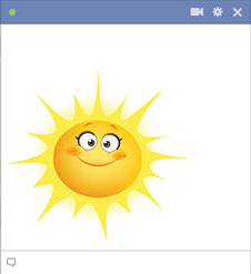 Sunny smiley for Facebook
