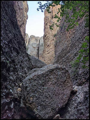 One of the many Boulder Challenges in Maple Box Canyon
