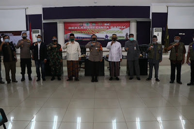 Polresta Tangerang, Forkopimda, dan Elemen Masyarakat Deklarasikan Cinta Damai