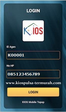 Cara login Aplikasi Android Kios Mobile Topup