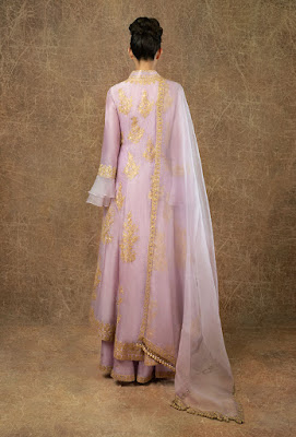 Manish Malhotra dress Lavender chanderi angraka backside
