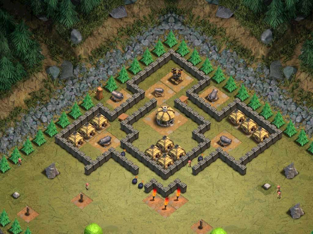 Goblin Base Clash of Clans Natural Defense