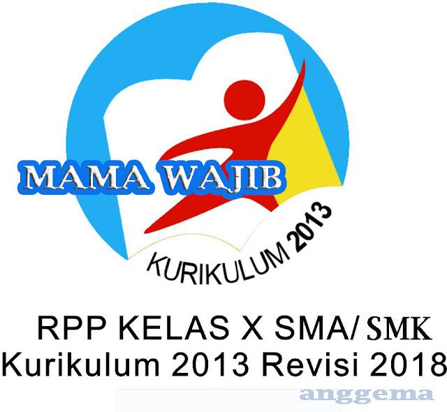 RPP Matematika Wajib kelas 10 SMA/SMK Kurikulum 2013 Revisi 2018