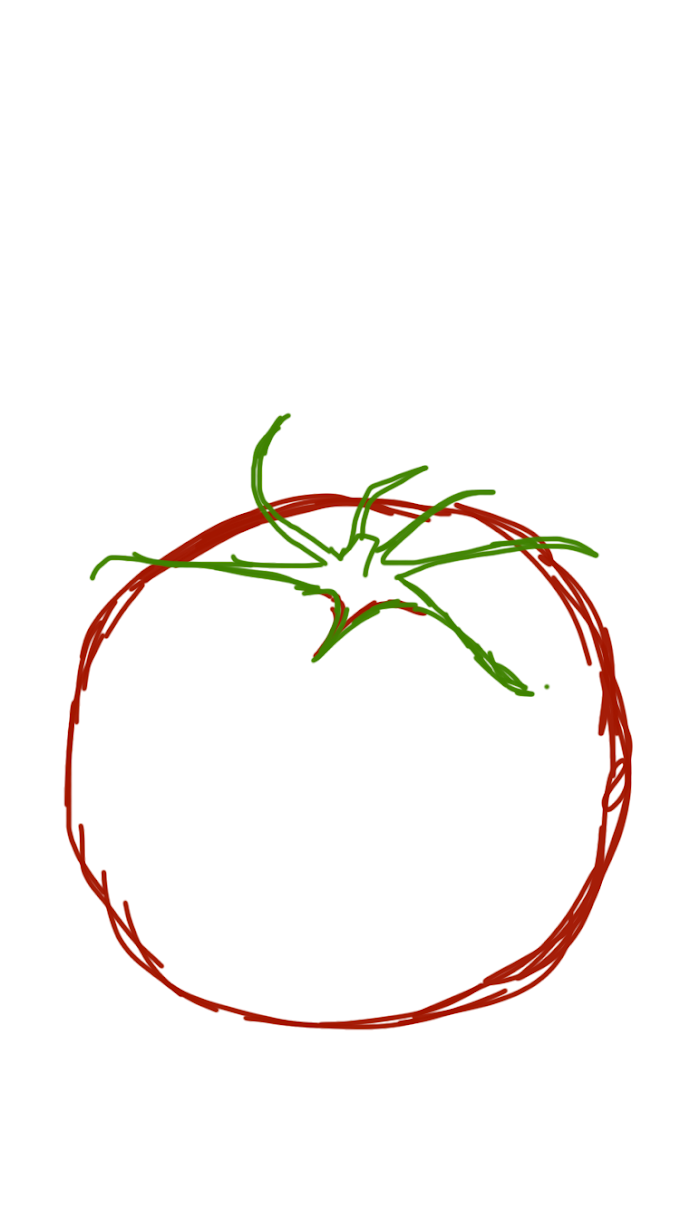 How to draw a realistic tomato - Step By Step Painting