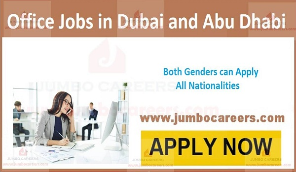 Recent Office jobs in UAE, Gulf job vacancies latest,