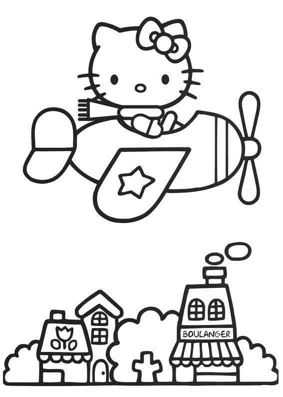 Coloring Pages for everyone: Hello Kitty
