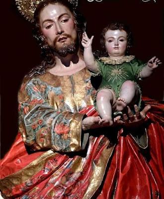San José con el niño Jesus