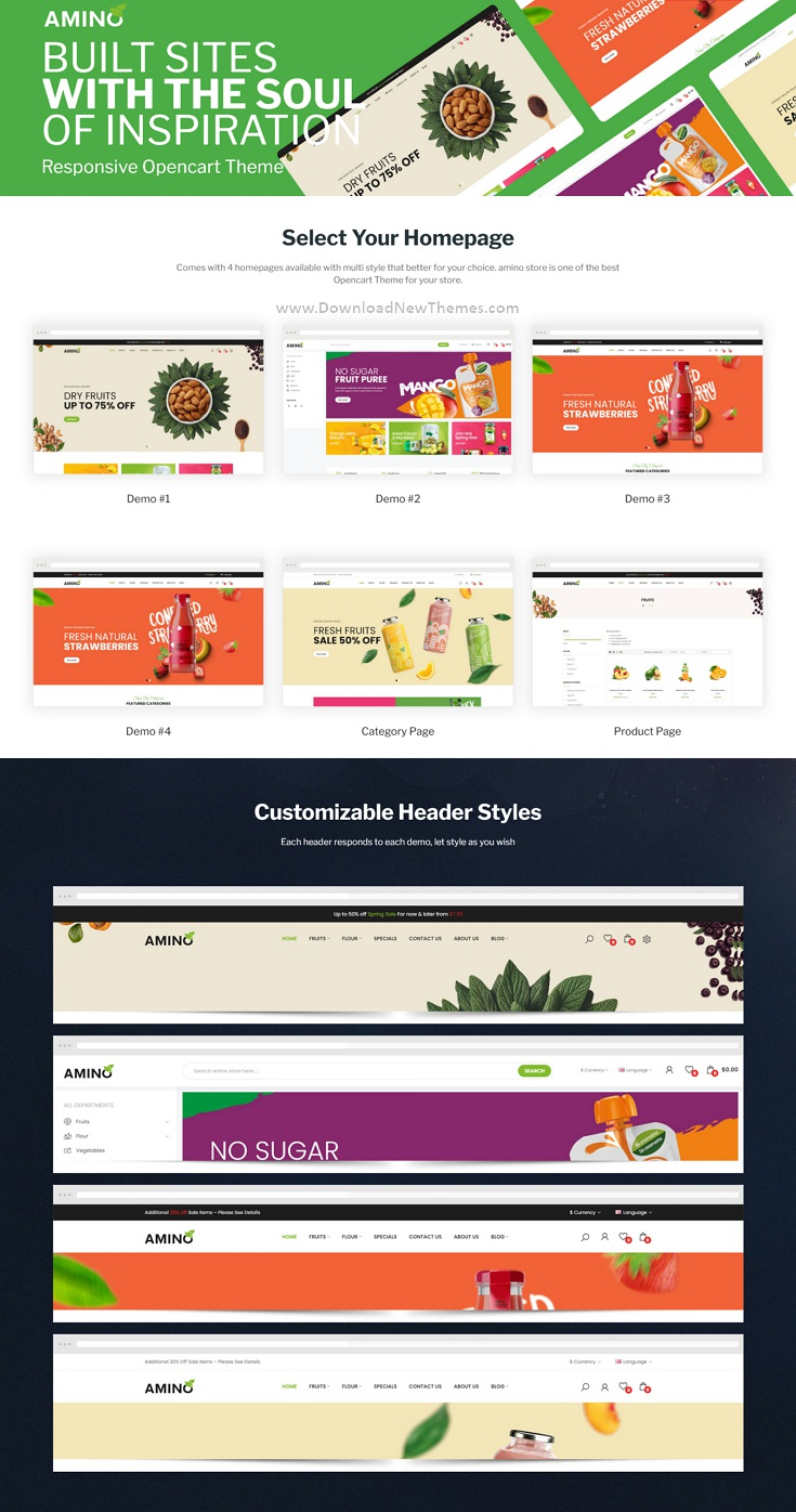 Organic & Multipurpose OpenCart Theme