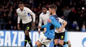نابولي يتغلب على ريق جينك برباعيه ويتاهل لدور ال 16 كثاني المجموعة في دوري أبطال أوروبا