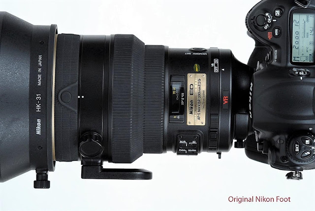 Nikkor AF-S 200 f2 with original foot
