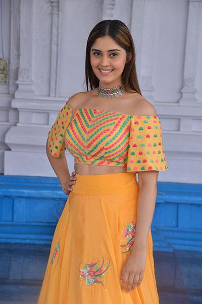 Actress Surabhi Yellow Dress Latest Photos