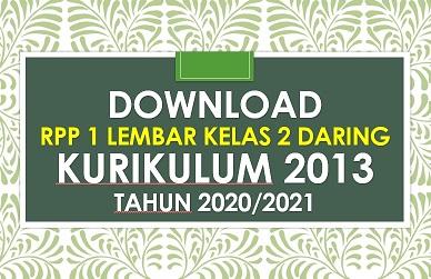 Download Rpp Daring 1 Lembar Kelas 2 Tema 2 Revisi 2020 2021 Sd Negeri Dabung 2