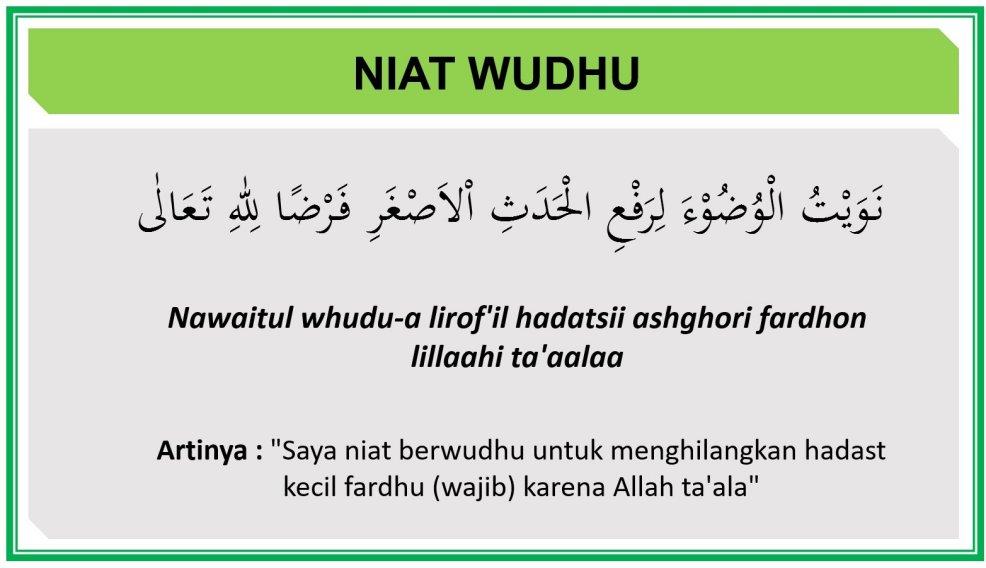 Doa Niat Wudhu Dan Doa Sesudah Wudhu Lengkap Beserta Latin Dan Artinya Doa Harian Islami