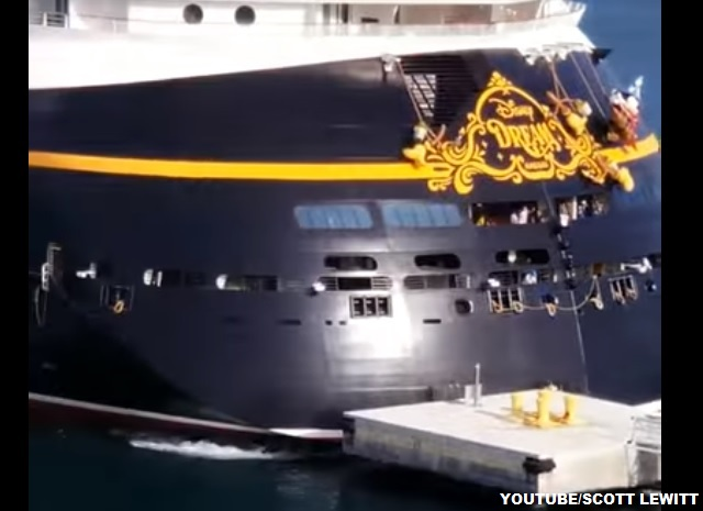 Disney Dream Cruise Ship Collides With Dock