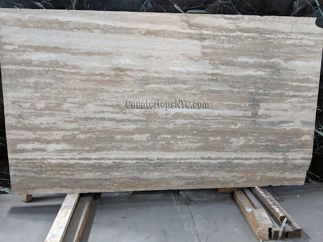 Silver Travertine Slab NYC