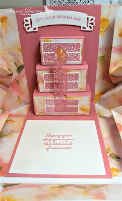 Wish for it all, Doily wishes, birthday card, fancy fold, ultimate pop-up, rhapsody in craft, stampin' up, art with heart