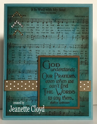 ODBD It Is Well With My Soul Hymn, ODBD Pray, Card Created by Jeanette Cloyd aka Forest Ranger