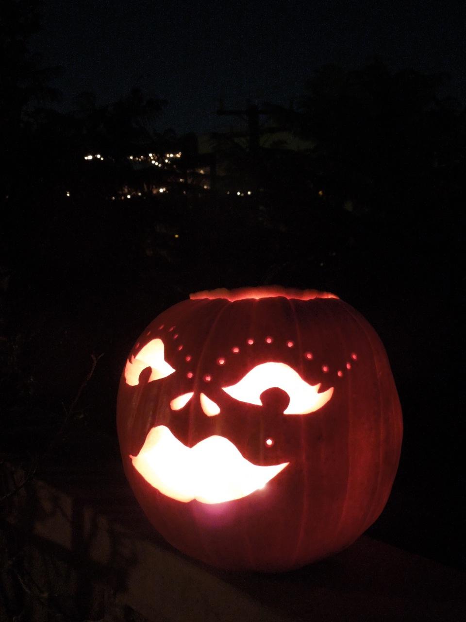 Halloween pumpkins aglow in WEHO... ~ Jason in Hollywood