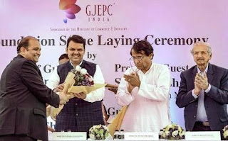 foundation stone laying ceremony of India Jewellery Park in Navi Mumbai on Tuesday