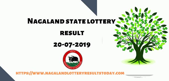 Nagaland State Lottery:Lottery Sambad today 20-07-2019