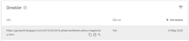 Google Search Console Blogger hatalı yazını bul ve düzeltme: