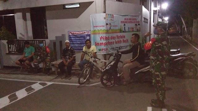 Kodim Sragen - New Normal, Koramil Karangmalang Tegakkan Disiplin Protokol Kesehatan