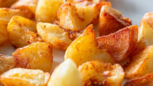 Roast Potatoes Macro Food Photography