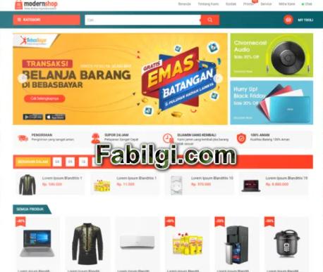 Blogger Alışveriş E-Ticaret Sitesi Teması İndir 2021 Modershop