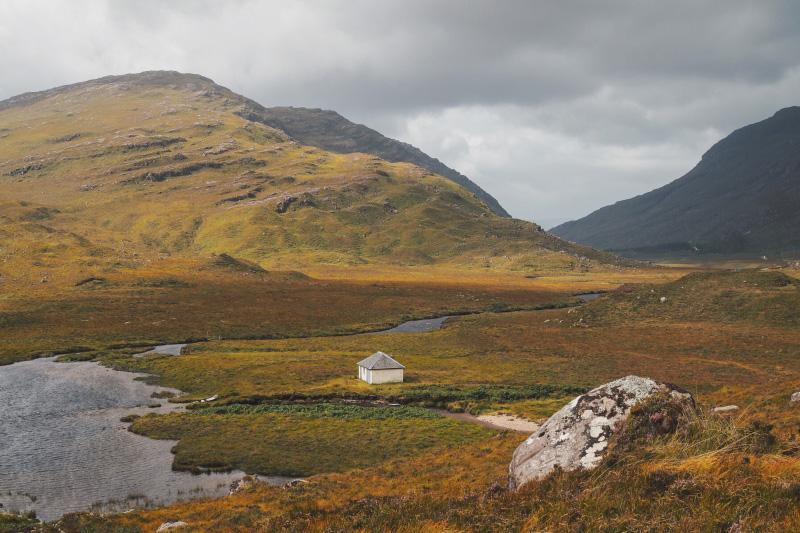 La réserve naturelle de Beinn Eighe dans les Highlands en Ecosse