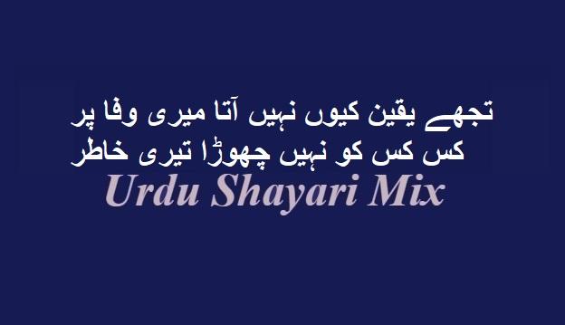 Bewafa poetry, تجھے یقین کیوں نہیں, Bewafa shayari