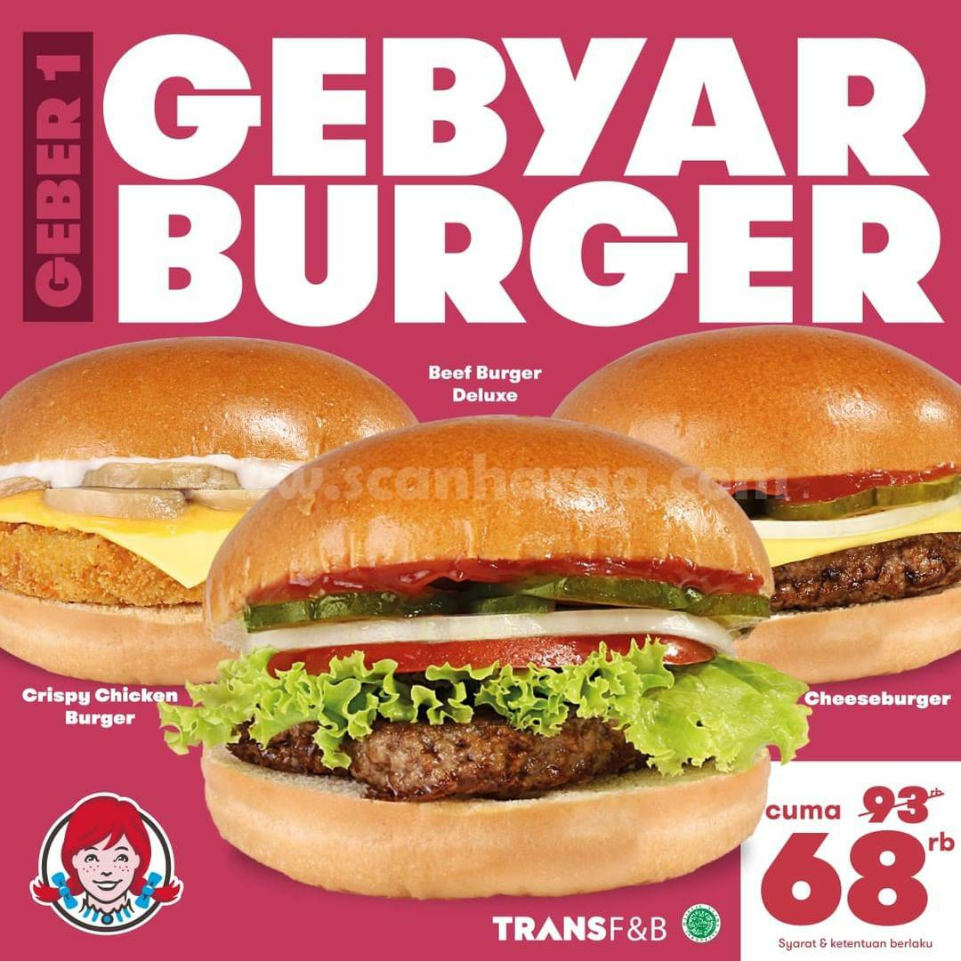 Wendys Promo Gebyar Burger mulai dari Rp68.000