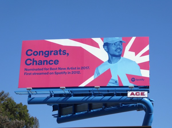 Congrats Chance Spotify billboard