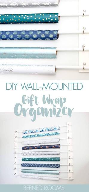 DIY Gift Wrap Organizer