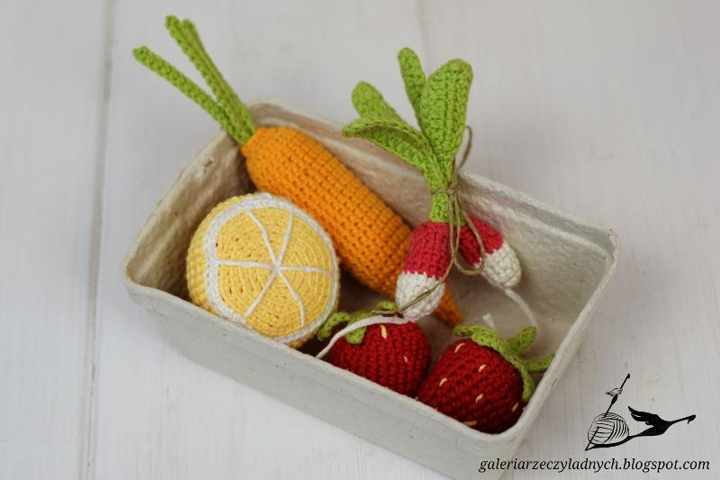 Bawełniane warzywa i owoce