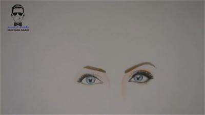 تعلم رسم انجلينا جولي