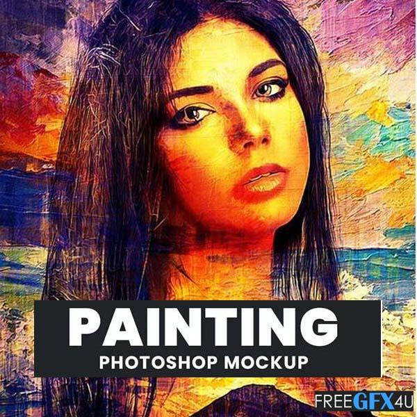 Painting Photoshop PSD Photo Mockup