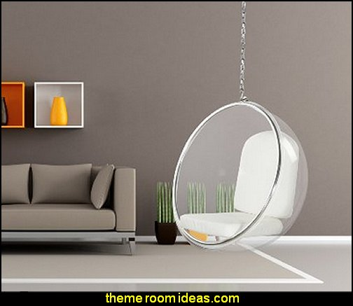 Hanging Bubble Chair   mod retro home decor  mid century modern bedroom